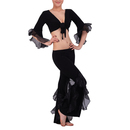 BellyLady Belly Dance Practice Costume, Lotus Leaf Pant And Wrap Top Set