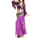 BellyLady Professional Belly Dance Costume, Tribal Wrap Top And Skirt Set