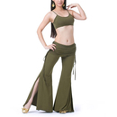 BellyLady Belly Dance/Yoga Costume, Spaghetti Strap Tank Top and Tribal Pants