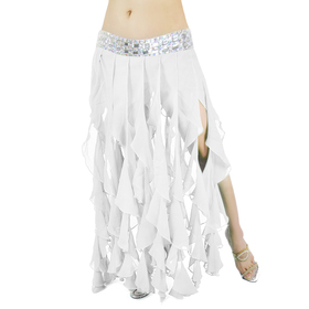 BellyLady Belly Dance Chiffon Skirt With Acrylic