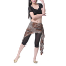 BellyLady Belly Dance Hip Scarf, Leopard Print Belly Dance Skirt with Ruffle
