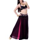BellyLady Belly Dance Bollywood Block Color Chiffon Maxi Skirt