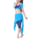 BellyLady Belly Dance Hip Scarf, Solid Color Belly Dance Skirt with Ruffle