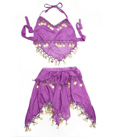 BellyLady Lavender Children Belly Dance Costume, Skirt & Halter Top Sets