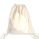 TOPTIE Large Cotton Drawstring Bag Backpack Cinch Sack in Natural White
