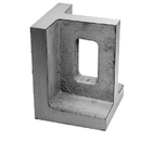 ABS Import Tools 3-3/4 X 4 X 5 Inch Non-Slotted Right Angle Plate