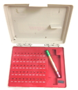 ABS Import Tools 4101-0040 Pro - Quality 50 Pc Pin Gage Set With Cert(.011 - .060 Inch)