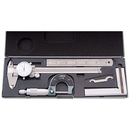 ABS Import Tools 4 Piece Machinist'S/Student'S Kit With 6 Inch Dial Caliper.