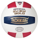 Tachikara 1050912 SV-5W Red/White/Blue Leather Volleyball only
