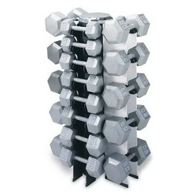Champion 4 Sided Vertical Dumbell Rack - 4-Sided - Holds 13 Pair, Price/EA