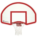 Gared Steel Rear Mount Backboard w/Goal - Backboard with Goal and Net only