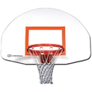 Gared Steel Front Mount Backboard White - Solid White Backboard only
