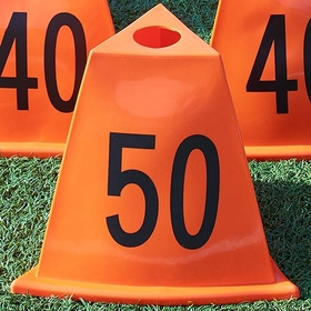 SSG / BSN Poly 11pc Football Sideline Marker - 11 Piece Set, Price/SET