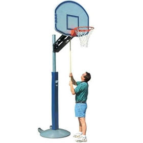 "Bison QwikChange? Outdoor Portable Adjustable Basketball System - Fan Shaped Graphite 36"" x 48"", Price/EA"