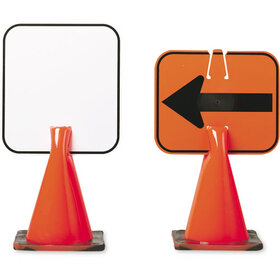Arrow Sign Co Plastic Clip-On Cone Sign - Blank, Price/EA
