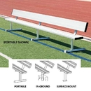 BSN Sports 15' Permanent Bench w/ Back - 15'L - In ground design only