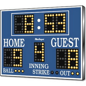 MacGregor BS86 Baseball/Softball Scoreboard/Clock - As Shown, Price/EA
