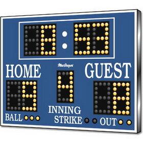 MacGregor BS86 Baseball/Softball Scoreboard/Clock - As Shown, Price/EA