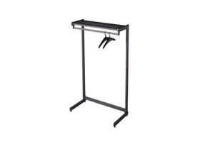 Quartet 20214 48In Blk Garment Rack 1-Side 1