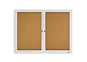 Quartet 2124 Enclosed Cork Outdoor Bulletin Board