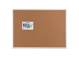 Quartet 2304 4X3Ft Cork Board Anod Alum Fr