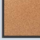 Quartet Cork Bulletin Board, 5' x 3', Black Aluminum Frame, 2305B