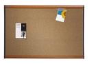 Quartet Prestige Colored Cork Bulletin Board, 4' x 3', Light Cherry Finish Frame, 244LC