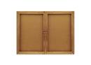 Quartet Enclosed Cork Bulletin Board for Indoor Use, 4' x 3', 2 Door, Oak Frame, 364