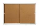 Quartet Enclosed Cork Bulletin Board for Indoor Use, 6' x 4', Sliding Door, Aluminum Frame, D2405