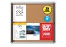 Quartet Enclosed Cork Bulletin Board for Indoor Use, 30