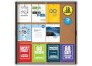 Quartet Enclosed Cork Bulletin Board for Indoor Use, 38