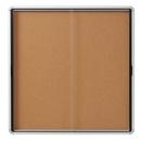 Quartet Enclosed Cork Bulletin Board for Indoor Use, 56
