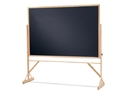 Quartet Reversible Easel - Black Chalkboard, 4' x 6', Hardwood Frame, WTR406810