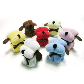 Assorted Color Little Dog Towel Favors, Gift Idea, Christmas Gift, Price/dozen