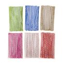 Aspire Colorized Paper Twist Tie Multi-color Twist Tie for Cello Candy Bags Party Favor, 100 Pcs / Bag
