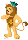 Advanced Graphics 1073 Cowardly Lion - Kids WOZ- 66