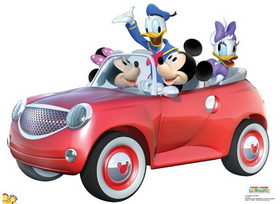 "Advanced Graphics 1173 Mickey Car Ride- 33"" x 45"" Cardboard Standup"
