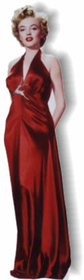 "Advanced Graphics 316 Marilyn Monroe-Red Dress- 72"" x 18"" Cardboard Standup"