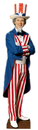 "Advanced Graphics 379 Uncle Sam- 74"" x 19"" Cardboard Standup"