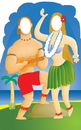 Advanced Graphics 546 Hawaiian Couple Stand-In- 72