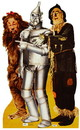 "Advanced Graphics 566 Lion, Tinman & Scarecrow - Wizard of Oz- 72"" x 46"" Cardboard Standup"