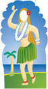Advanced Graphics 571 Hula Girl Stand In- 72