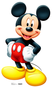 "Advanced Graphics 659 Mickey Mouse- 42"" x 24"" Cardboard Standup"