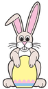 Advanced Graphics 669 Easter Bunny with Egg Sign Board- 42