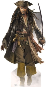 "Advanced Graphics 690 Capt Jack Sparrow- 72"" x 42"" Cardboard Standup"