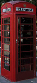 "Advanced Graphics 698 English Phone Booth- 75"" x 34"" Cardboard Standup"