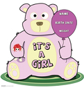 Advanced Graphics 801 It's A Girl Teddy Bear- 40