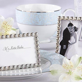 Silver Pearl Place Card Holders, Mini Photo Frame, Christmas Gift, Price/20 Pcs