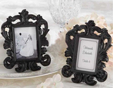 Idoo Black & White Baroque Elegant Place Card Holder, Photo Frame, Graduation Gift