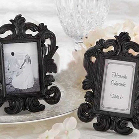 Idoo Black & White Baroque Elegant Place Card Holder, Photo Frame, Price/20 Pcs